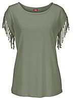 cheap -Women's Slim T-shirt - Solid