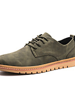 cheap -Men's Shoes Synthetic Microfiber PU PU Leatherette Spring Fall Comfort Oxfords for Casual Black Gray Green