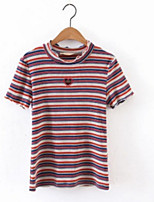 cheap -Women's Going out Cute Cotton T-shirt - Striped