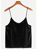 cheap -Women's Vintage Tank Top - Solid Colored Strap