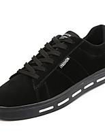 Недорогие -Муж. обувь Свиная кожа Весна Осень Удобная обувь Кеды для Повседневные Черный Серый Миндальный Хаки