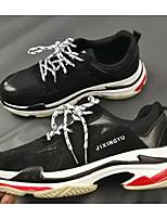Недорогие -Муж. обувь Синтетика Весна Осень Удобная обувь Кеды для Повседневные на открытом воздухе Черный