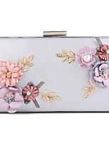 preiswerte -Damen Taschen PU Abendtasche Kristall Verzierung Perlen Verzierung Blume für Hochzeit Veranstaltung / Fest Ganzjährig Gold Schwarz Silber