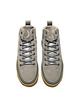 Недорогие -Муж. обувь Бархатистая отделка Весна Удобная обувь Кеды для Повседневные Черный Серый Военно-зеленный Миндальный
