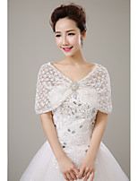 cheap -Sleeveless Lace Wedding Party / Evening Women's Wrap With Crystal Brooch Capelets