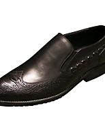 Недорогие -Муж. обувь Кожа Весна Осень Удобная обувь Мокасины и Свитер для Повседневные Черный