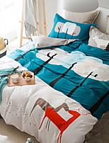 abordables -Ensembles housse de couette Bande dessinée 3 Pièces Polyester/Coton 100% Coton Imprimé Polyester/Coton 100% Coton 1 x Housse de couette 1