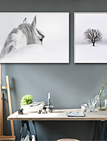 cheap -Landscape Animals Illustration Wall Art, Plastic Material With Frame For Home Decoration Frame Art Living Room