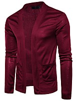 cheap -Men's Long Sleeves Cardigan - Solid Color V Neck