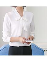 Недорогие -Жен. Блуза, V-образный вырез Однотонный