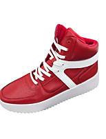 cheap -Men's Shoes Synthetic Microfiber PU Fall Winter Comfort Sneakers for Casual Outdoor White Black Red