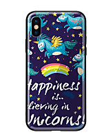 cheap -Case For Apple iPhone X iPhone 8 Pattern Back Cover Unicorn Hard Tempered Glass for iPhone X iPhone 8 Plus iPhone 8 iPhone 7 iPhone 6s