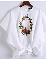 abordables -Tee-shirt Femme,Fleur Brodée Basique