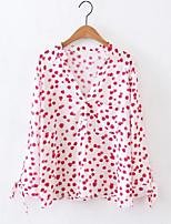 cheap -Women's Street chic Shirt - Polka Dot V Neck