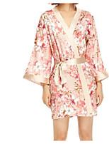 abordables -Satin & Soie Pyjamas Femme - Dentelle, Fleur