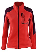 cheap -Women's Hiking Jacket Hiking Fleece Jacket Hiking Softshell Jacket Outdoor Keep Warm Top Single Slider Camping / Hiking Outdoor Exercise