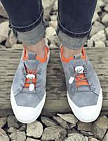 Недорогие -Муж. обувь Нубук Весна Осень Удобная обувь Кеды для Повседневные Черный Серый