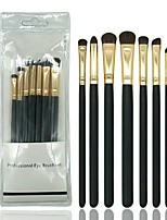 cheap -7 pcs Professional Makeup Brushes Makeup Brush Set / Eyeshadow Brush Horse / Synthetic Hair Soft / Full Coverage Wooden 1 * Fan Brush / 1