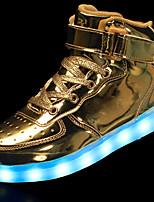 Недорогие -Мальчики / Девочки Обувь Полиуретан Осень Удобная обувь / Обувь с подсветкой Кеды Шнуровка / На крючках / LED для Серебряный / Синий / Розовый