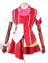 abordables -Inspiré par Macross Frontier Cosplay Manga Costumes de Cosplay Costumes Cosplay Autre Manches Courtes Cache-col Chemise Haut Jupe Nœud