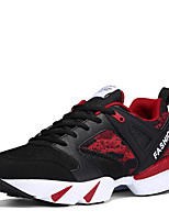 cheap -Men's Shoes PU Spring Fall Comfort Sneakers for Casual Dark Blue Black/White Black/Red