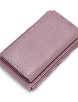 cheap -Unisex Bags Cowhide Coin Purse Zipper for Formal Office & Career All Seasons Black Blushing Pink Gray Army Green Wine