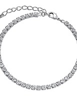 cheap -Women's Cubic Zirconia Gold Plated Bohemian Chain Bracelet - Bohemian Sexy Silver Bracelet For Party Gift