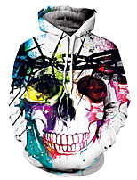 cheap -Men's Loose Hoodie - Skull Hooded