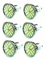 Недорогие -6шт 4.5W 300 lm GU10 Точечное LED освещение 24 светодиоды SMD 5050 Тёплый белый 220-240V