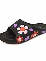 cheap -Women's Shoes PVC Spring Summer Comfort Slippers & Flip-Flops Low Heel for Casual Black Red Green