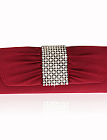 cheap -Women's Bags Nonwoven Evening Bag Crystal Detailing Pearl Detailing for Wedding Event/Party All Seasons Red Blushing Pink Milky White