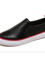 baratos -Homens sapatos Couro Ecológico Primavera Outono Conforto Mocassins e Slip-Ons para Casual Branco Preto
