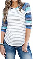 abordables -Tee-shirt Femme,Rayé Basique
