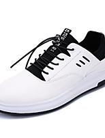 Недорогие -Муж. обувь Полиуретан Весна Осень Удобная обувь Кеды для Повседневные Белый Черный Темно-красный
