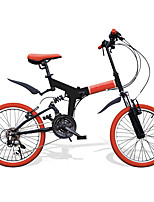 cheap -Folding Bike Cycling 21 Speed 20 Inch SHIMANO RS-35 V Brake Suspension Fork Folding PVC PVC/Vinyl Steel Tube Aluminum Alloy