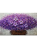 preiswerte -Handgemalte Abstrakt Blumenmuster/Botanisch Horizontal, Zeitgenössisch Modern Segeltuch Hang-Ölgemälde Haus Dekoration Ein Panel