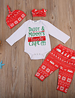cheap -Baby Unisex Party Going out Print Clothing Set, Cotton Spring Fall Cute Active Long Sleeves Red