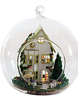 cheap -Toys Office Desk Toys Hand-made City View Circular House Shaped Garden Theme Architecture Boutique Classic 1pcs Pieces All Gift