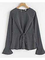 cheap -Women's Polyester Shirt - Striped