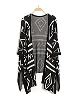 cheap -Girls' Daily Holiday Geometric Suit & Blazer, Cotton Spring Fall 3/4 Length Sleeves Cute Black