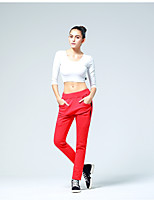 cheap -CONNY Women's Running Pants Stretchy Breathability Pants / Trousers Yoga Outdoor Exercise Multisport Jogging Fitness Cotton Red L XL XXL