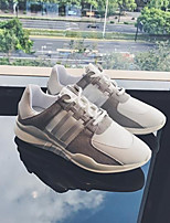 baratos -Homens sapatos Pele Inverno Conforto Tênis para Casual Branco Preto
