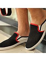 Недорогие -Муж. обувь Тюль Весна Осень Удобная обувь Мокасины и Свитер для Повседневные Белый Черный Синий