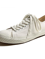 cheap -Men's Shoes Canvas Spring Fall Comfort Sneakers for Casual White Beige