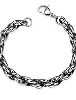 cheap -Men's Chain Bracelet , Vintage Stainless Geometric Jewelry Gift Daily Costume Jewelry