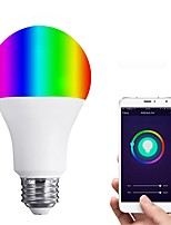 cheap -JIAWEN 1pc 6W 450 lm E26/E27 LED Smart Bulbs 12 leds SMD 3528 Smart Dimmable APP Control Remote-Controlled Warm White RGB 110-120V
