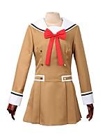 baratos -Inspirado por BanG Dream Outro Anime Fantasias de Cosplay Ternos de Cosplay Outro Manga Longa Peitilho Vestido Para Homens Mulheres