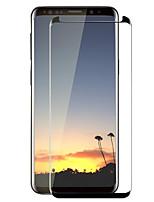 Недорогие -Защитная плёнка для экрана Samsung Galaxy для S9 Закаленное стекло 1 ед. Защитная пленка на всё устройство 3D закругленные углы Защита от