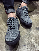 cheap -Men's Shoes Pigskin Winter Comfort Sneakers for Casual Black Gray