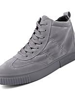 Недорогие -Муж. обувь Искусственное волокно Весна Осень Удобная обувь Кеды для Повседневные Черный Серый Красный
